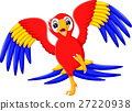 illustration of cute parrot cartoon 27220938