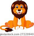 illustration of cute baby lion cartoon 27220940