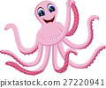 illustration of cute octopus cartoon 27220941