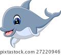 illustration of cute dolphin cartoon 27220946
