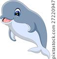 illustration of cute dolphin cartoon 27220947