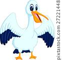 illustration of cute pelican cartoon 27221448