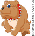 Illustration of bulldog cartoon 27221456