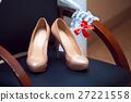 Elegant wedding shoes with colored rhinestones 27221558
