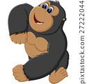 Funny gorilla cartoon of illustration 27222044