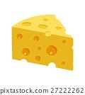 Triangular Yellow Cheese piece 27222262