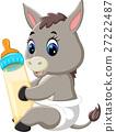 illustration of cute baby donkey cartoon 27222487