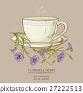 cup of corn flower tea 27222513