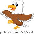 illustration of cute eagle cartoon 27222556