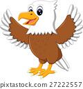 illustration of cute eagle cartoon 27222557