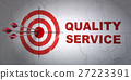 Business concept: target and Quality Service on 27223391