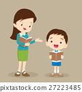Woman teacher tutoring student reading 27223485