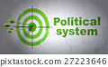Politics concept: target and Political System on 27223646
