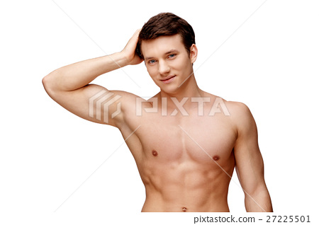 Handsome young man sniffing his armpit 27225501