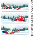 Three nature landscape Christmas banners  27225999