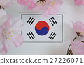 ต้นซากุระฤดูใบไม้ผลิธงชาติ 27226071