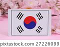 ต้นซากุระฤดูใบไม้ผลิธงชาติ 27226099