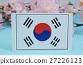 ต้นซากุระฤดูใบไม้ผลิธงชาติ 27226123