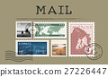 Airmail Mail Postcard Letter Stamp Concept 27226447