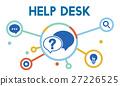 Communication Service Help Desk Concept/ 27226525