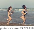 Women Friendship Playing Volleyball Beach Summer Concept 27229110