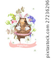 Happy Easter greeting card with bunch of beautiful 27236296