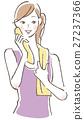 女性健身汗水 27237366