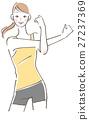 矢量 人體曲線 女人 27237369