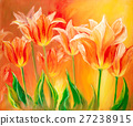 Tulips, oil painting on canvas 27238915