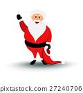 Christmas smiling Santa Claus character say Hello 27240796