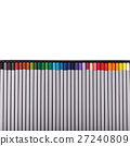Colour pencils isolated on white background close 27240809