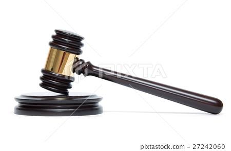 wooden judge gavel 27242060