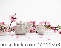 Korean plum blossom of petal with tea 27244568