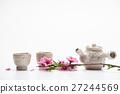 Korean plum blossom of petal with tea 27244569