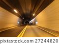 Night tunnel at speed in Gyeongbuk Expressway  27244820