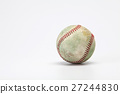 Baseball on a white background  27244830