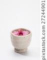 Plum blossom tea on a white  27244901