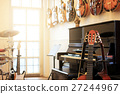 Musical instruments. Electric guitars, Piano, Drum 27244967