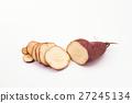 Sweet slice potato isolated.  27245134