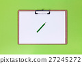 Clipboard and Green pencil  27245272