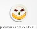 Expression of peach banana dish 27245313