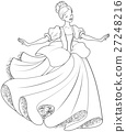 The  Ball Dance of Cinderella Coloring Page 27248216