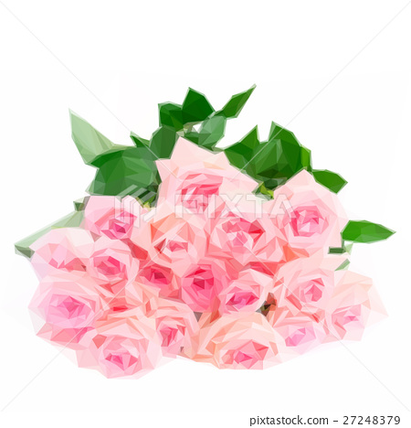 Pink blooming roses 27248379