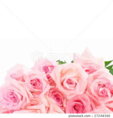 Pink blooming roses 27248380