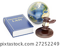 Immigration Law concept with gavel and globe 27252249