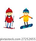 vector, boy, ski 27252655