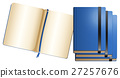 Blue notebooks in different sizes 27257676