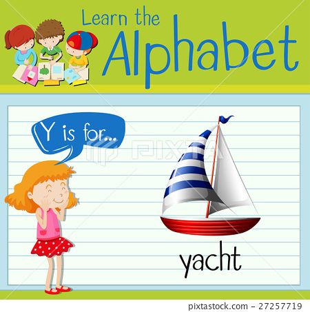 Flashcard letter Y is for yacht 27257719