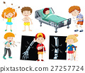 child, sickness, vector 27257724
