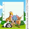 animal sign border 27257746